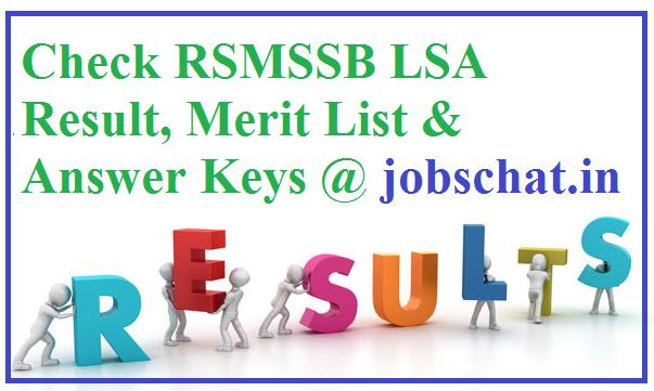 RSMSSB LSA Result