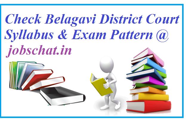 Belagavi District Court Syllabus