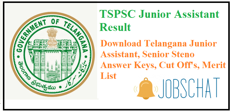 TSPSC Junior Assistant Result