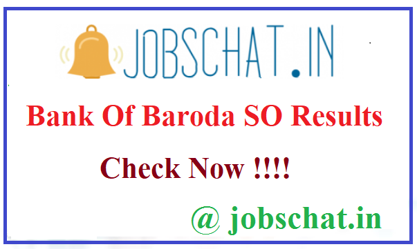Bank Of Baroda SO Results