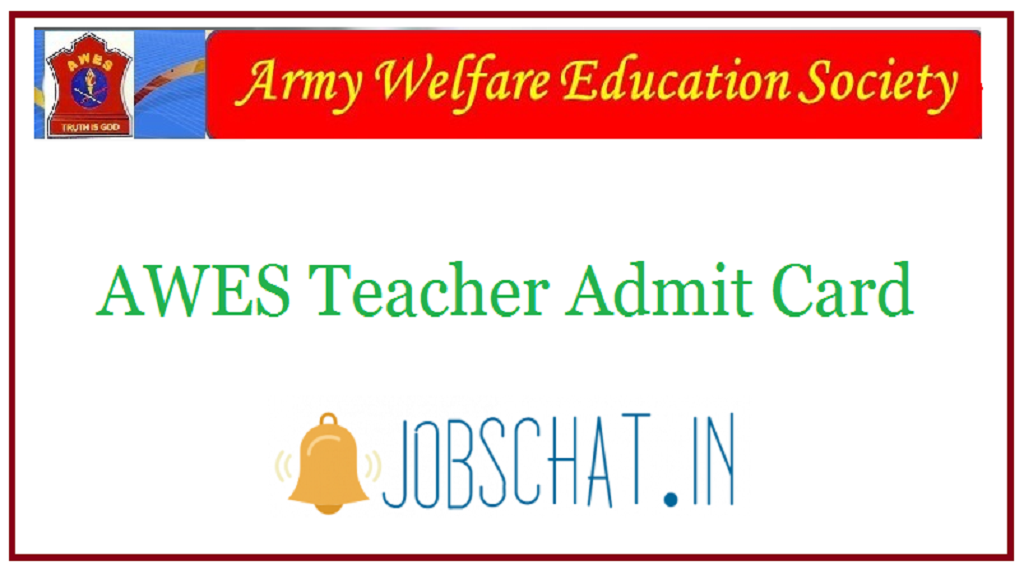 AWES Teacher Admit Card