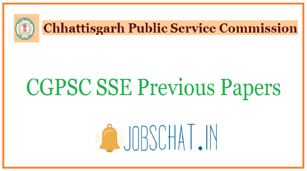 CGPSC SSE Previous Papers