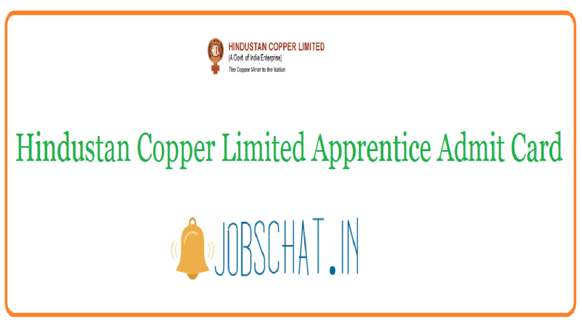 Hindustan Copper Limited Apprentice Admit Card