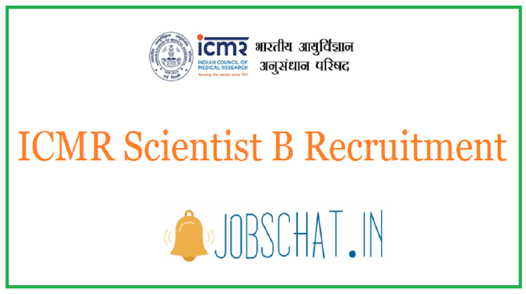 ICMR Scientist B Recruitment