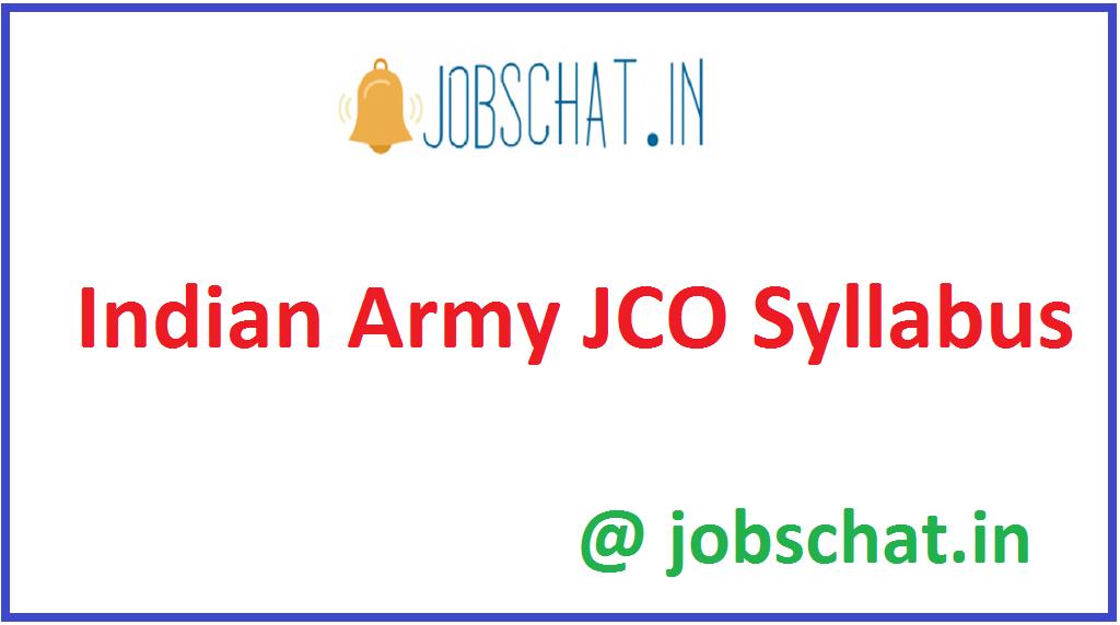 Indian Army JCO Syllabus
