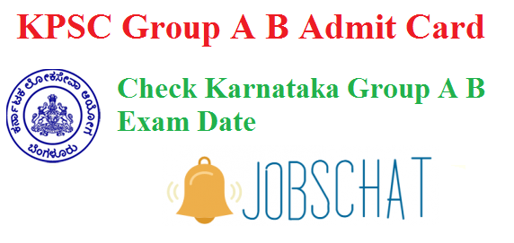 KPSC Group A B Admit Card