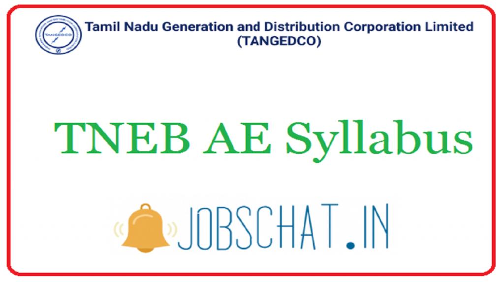TNEB AE Syllabus