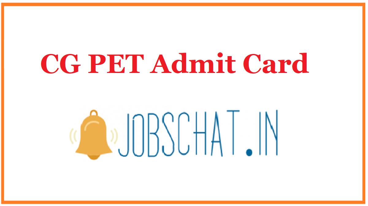 CG PET Admit Card