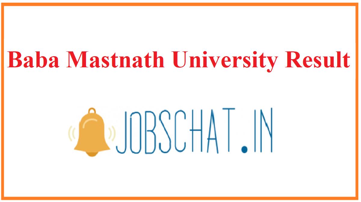 Baba Mastnath University Result