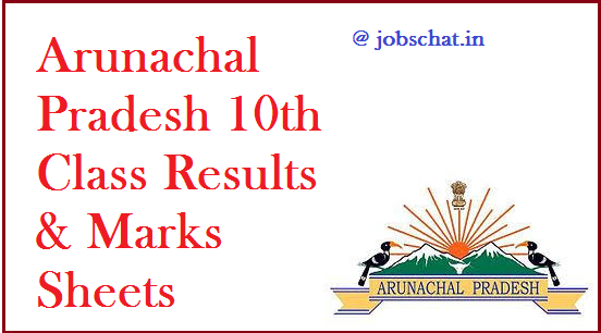 Arunachal Pradesh 10th Class Results