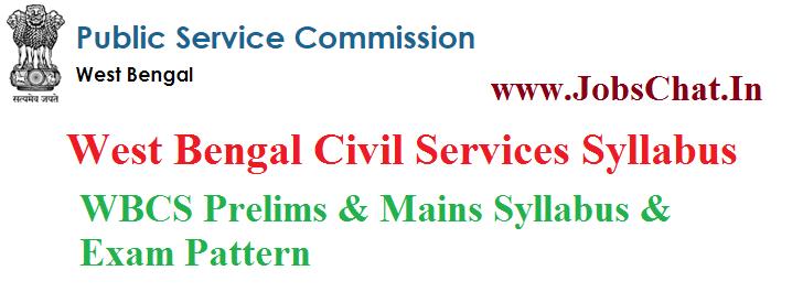 West Bengal Civil Services Syllabus