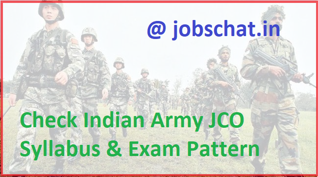 Indian Army JCO Syllabus