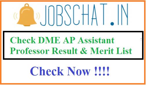 DME AP Assistant Professor Result