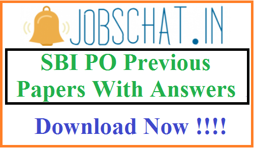SBI PO Previous Papers