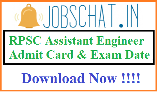 RPSC Assistant Engineer Admit Card