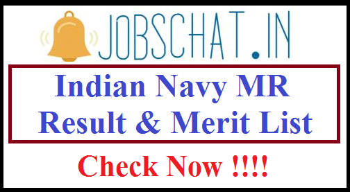 Indian Navy MR Result
