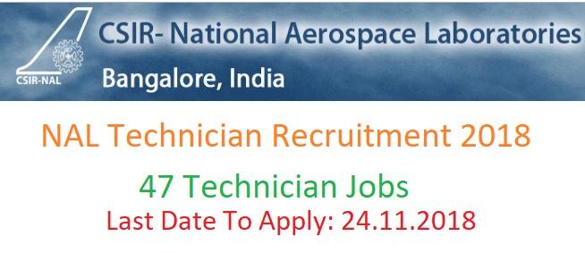 NAL Technician Recruitment
