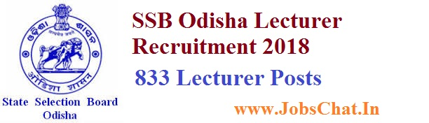 SSB Odisha Lecturer Recruitment