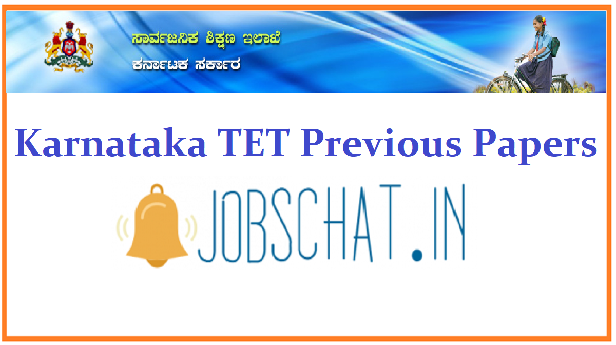 Karnataka TET Previous Papers