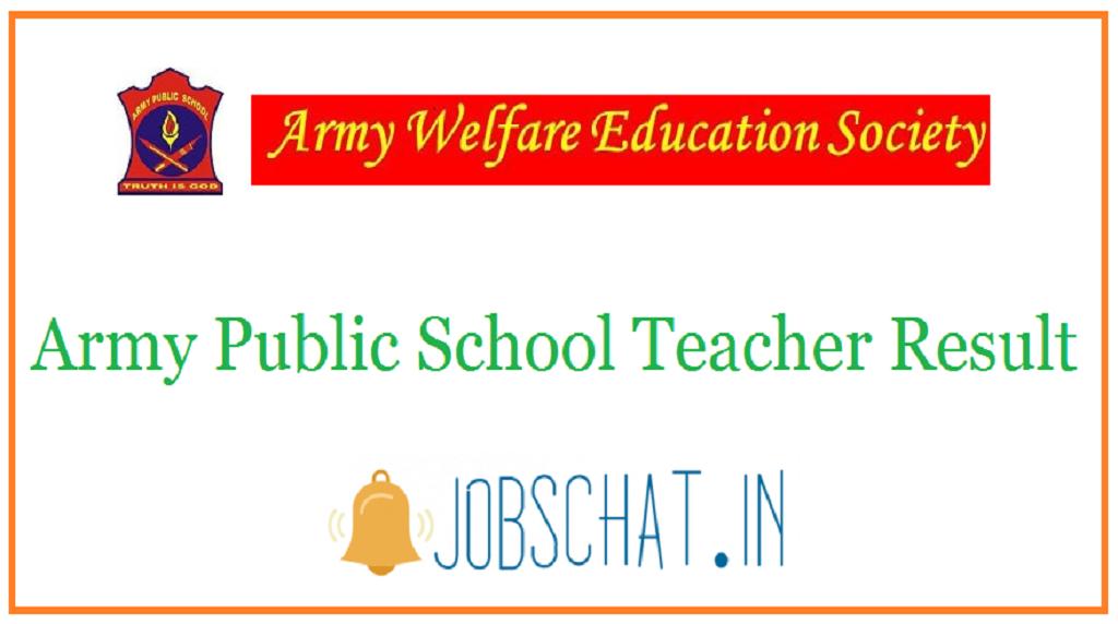 Army Public School Teacher Result
