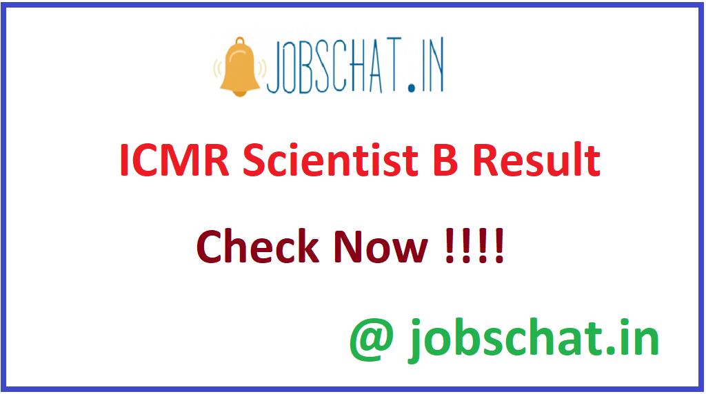 ICMR Scientist B Result