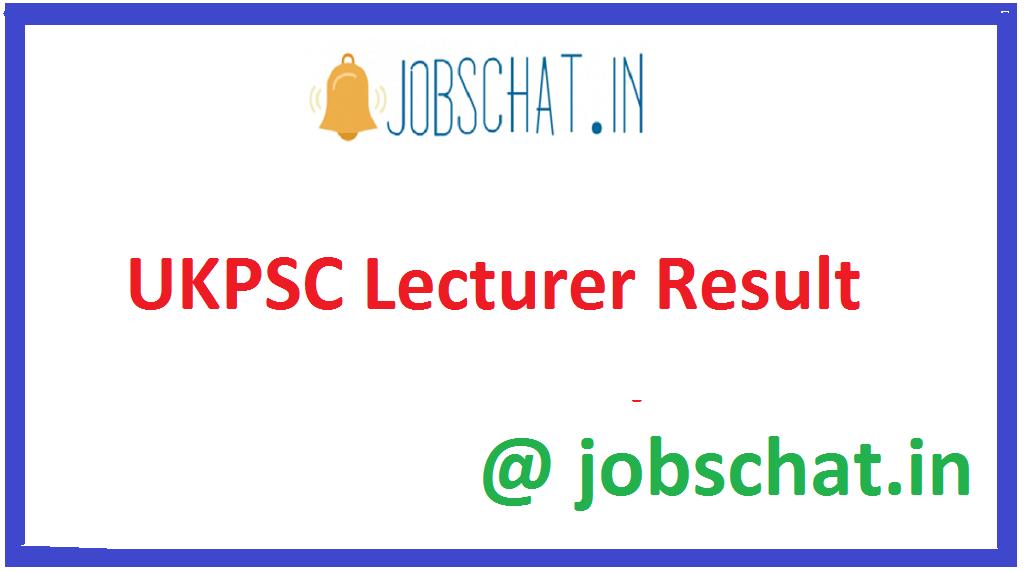 UKPSC Lecturer Result