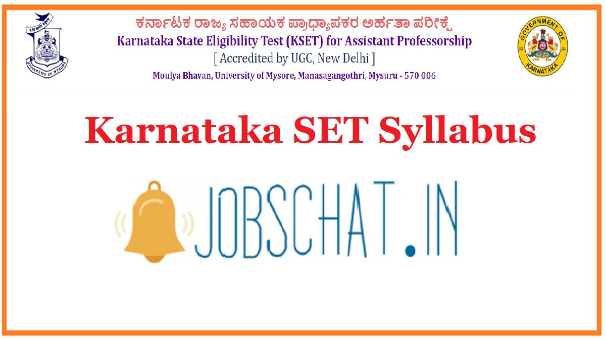 Karnataka SET Syllabus