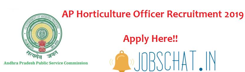 AP Horticulture Officer Recruitment 2019
