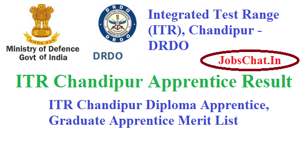 ITR Chandipur Apprentice Result