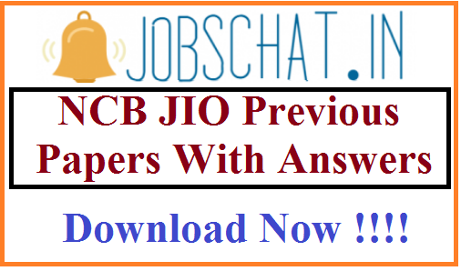 NCB JIO Previous Papers