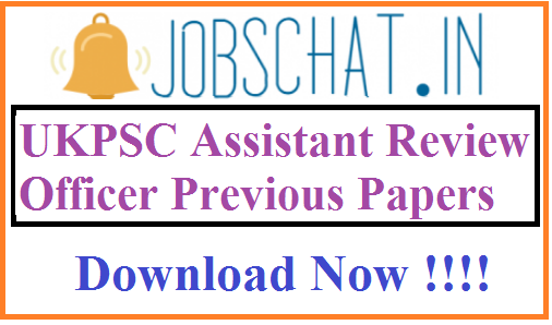 UKPSC Assistant Review Officer Previous Papers