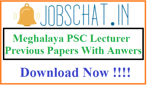 Meghalaya PSC Lecturer Previous Papers