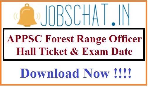 APPSC Forest Range Officer Hall Ticket