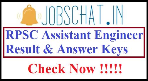 RPSC Assistant Engineer Result