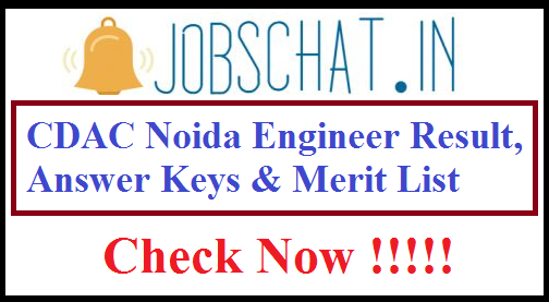 CDAC Noida Engineer Result