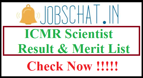 ICMR Scientist Result