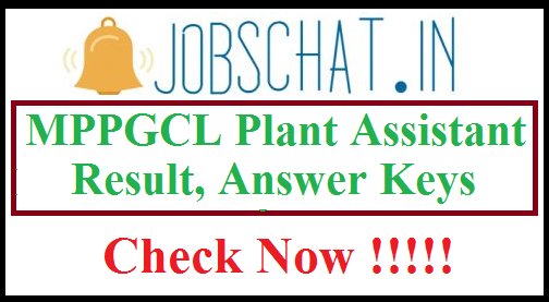 MPPGCL Plant Assistant Result