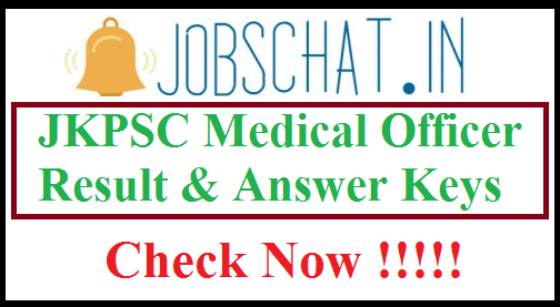 JKPSC Medical Officer Result