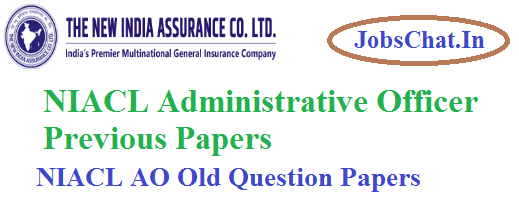 NIACL Administrative Officer Previous Papers