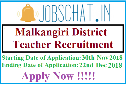 Malkangiri District Teacher Recruitment