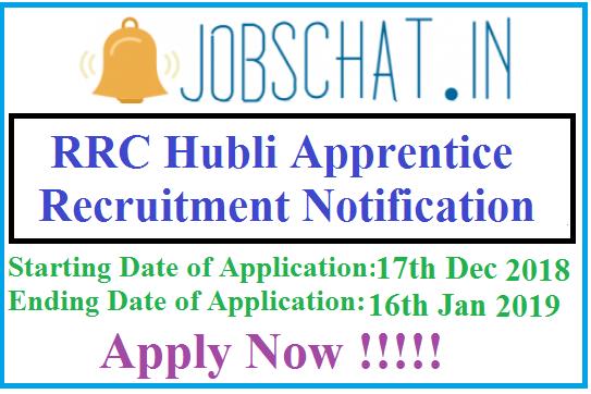 RRC Hubli Apprentice Recruitment