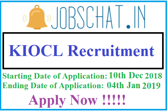 KIOCL Recruitment
