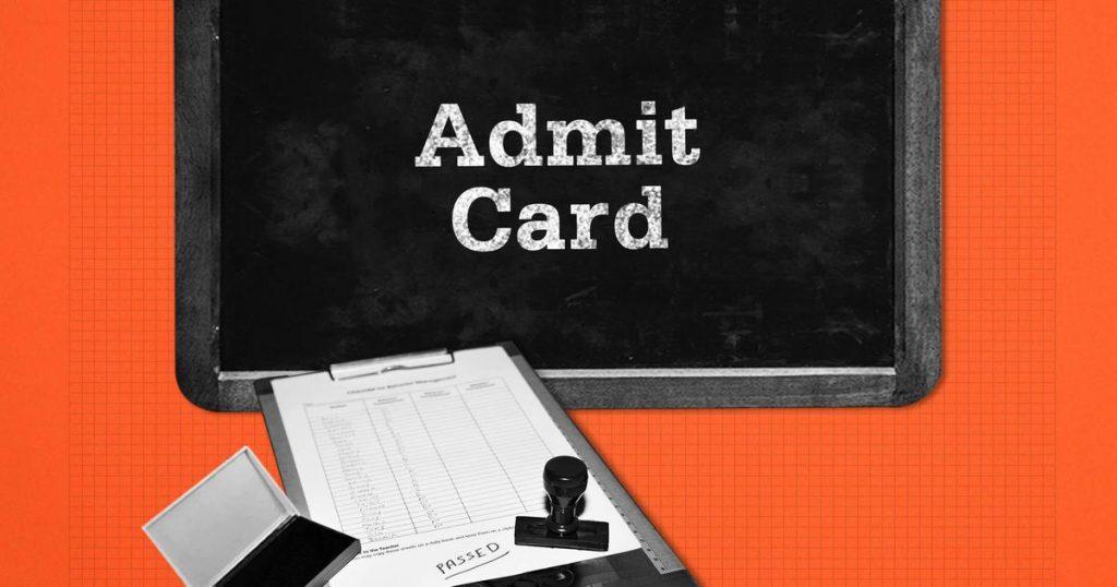 latest admit cards