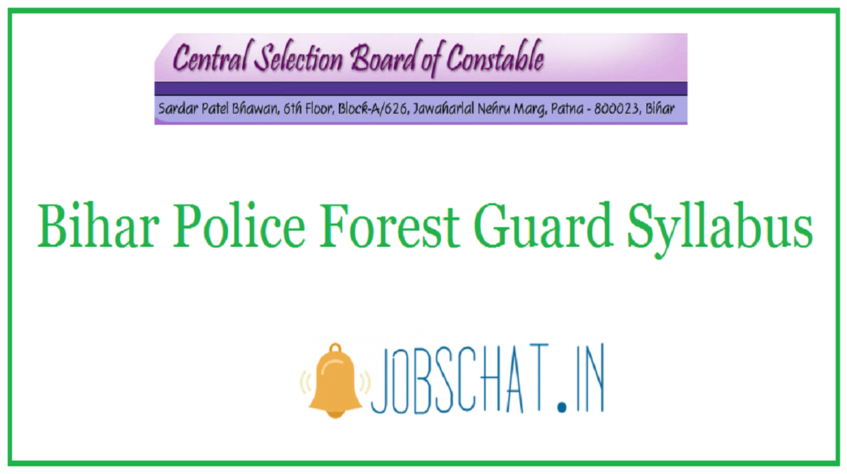 Bihar Police Forest Guard Syllabus