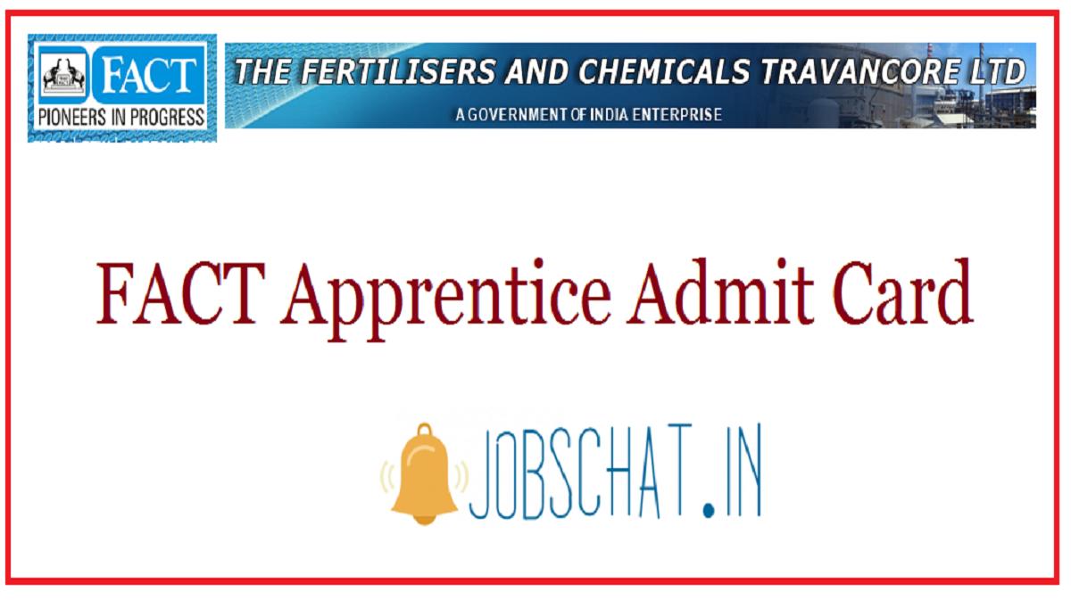 FACT Apprentice Admit Card