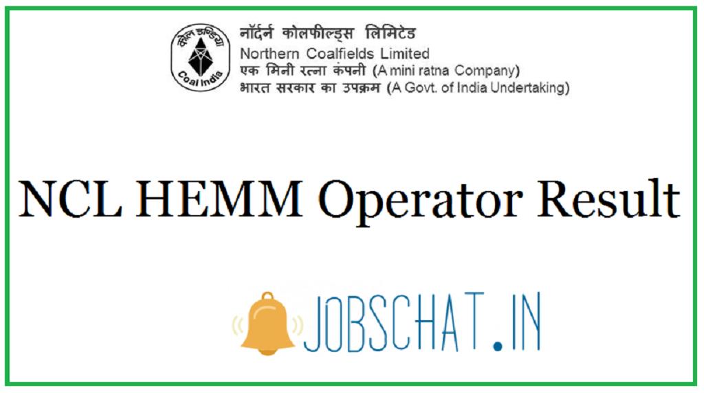 NCL HEMM Operator Result