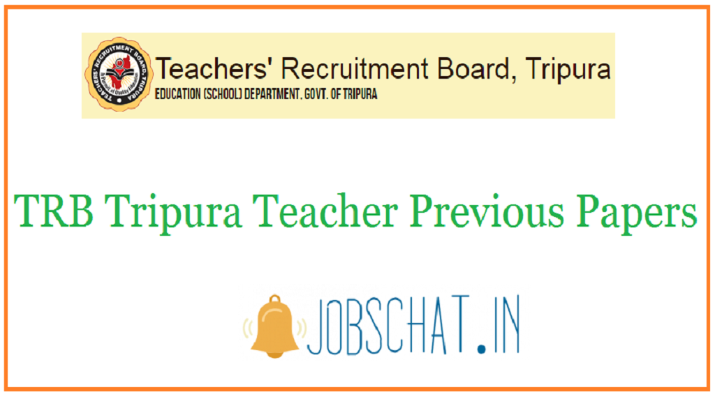 TRB Tripura Teacher Previous Papers