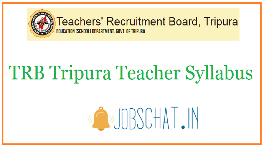 TRB Tripura Teacher Syllabus