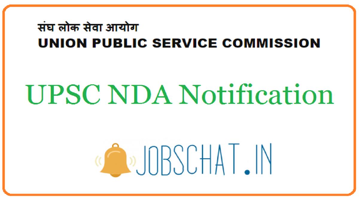 UPSC NDA Notification