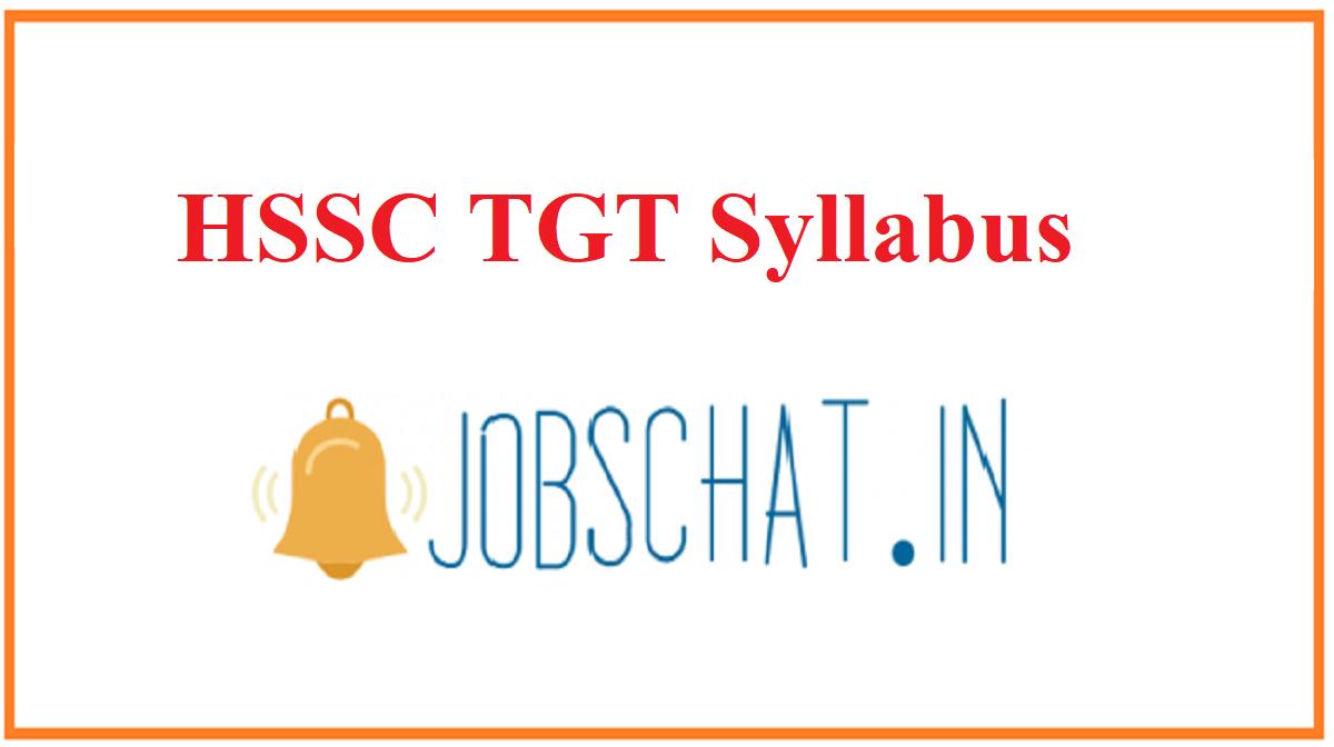 HSSC TGT Syllabus